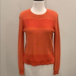 Theory Stripe Crew Neck Sweater